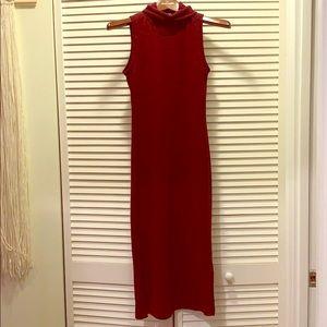 Lulu's turtleneck sleeveless dress